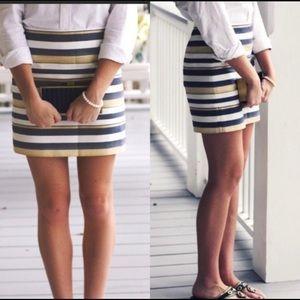 J.Crew Shiny Striped Mini Skirt size 4